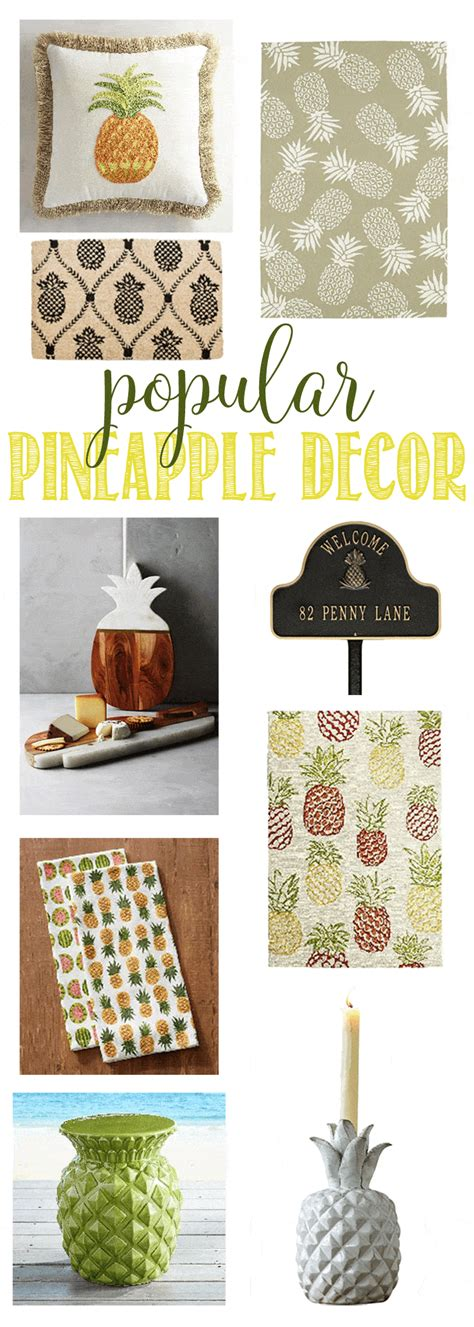 pineapple home decor you ll love this popular pineapple decor domestically