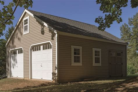 24x24 two car garage with lean to in millersville md sheds barns garages pine ridge barns