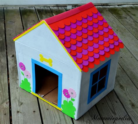 recycled dog house mommiepedia dog house from a recycled box