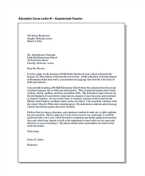 example of a cover letter for resume applying for teaching jobs