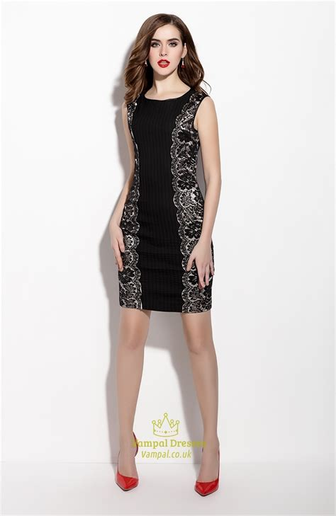 Sleeveless Lace Cocktail Dress black sleeveless sheath cocktail dresses with lace
