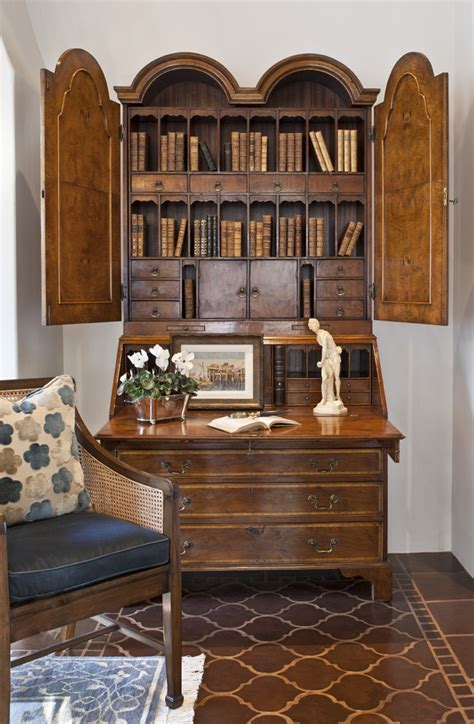 awesome secretary desk with hutch decorating ideas