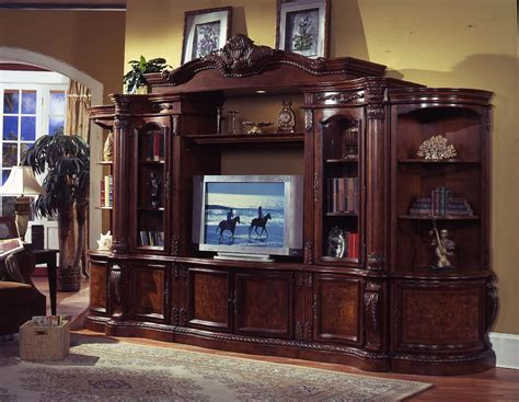 glass doors for entertainment wall 6 pc medium finish wood entertainment center wall unit