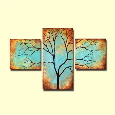 Etsy Wall - items similar to tree wall patina triptych