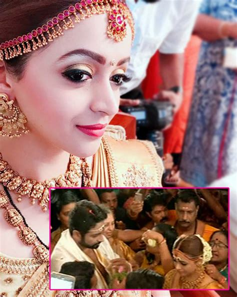 actress bhavana married first pic out malayalam actress bhavana gets married to
