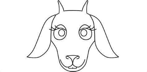 printable mask goat goat face mask template www pixshark com images