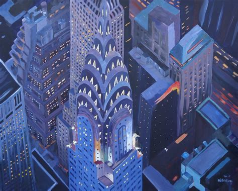 paint nite manhattan new york city midtown manhattan with chrysler building at