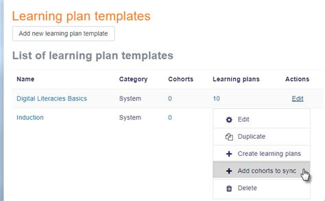 Learning Plan Template by Learning Plans Moodledocs