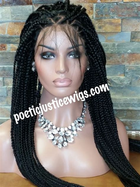 poetic justice bix braid lace wigs image of poetic justice handmade triangle part box braided