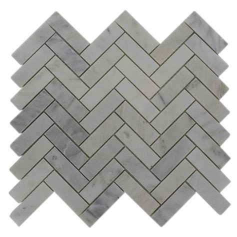 splashback tile oriental sculpture herringbone 12 in x 12 in x 8 mm marble mosaic floor and
