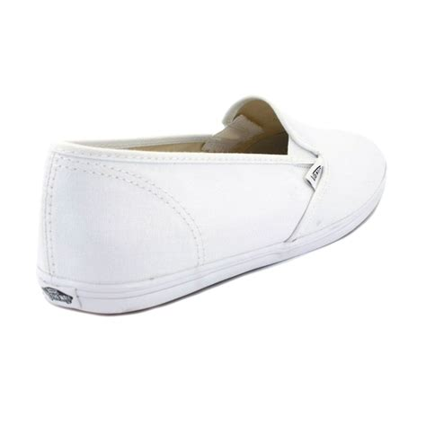 vans slip on lo pro f4yqlz womens canvas slip on white