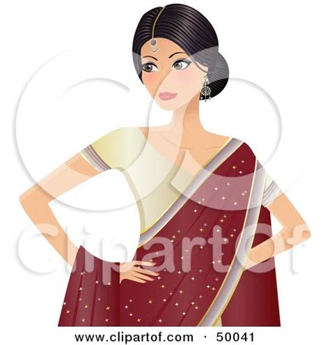 cartoon indian princess dress royalty free rf clipart illustration of a pretty hindu
