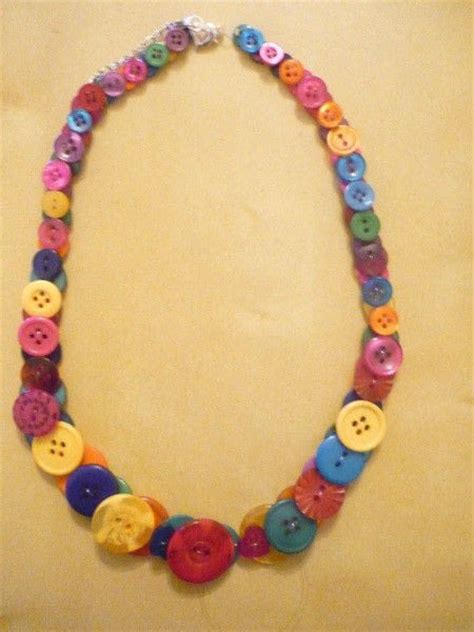 how to make button jewelry button necklace 183 how to make a button necklace 183 jewelry