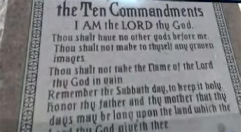 Oklahoma Supreme Court Network Search Oklahoma Supreme Court Declares 10 Commandments Monument