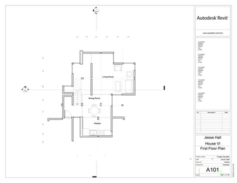 First Floor Plan Revit Eisenman House Vi Portfolio
