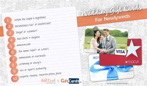 Gift Card Wedding by Top 10 Wedding Gift Cards To Buy For Newlyweds Gcg