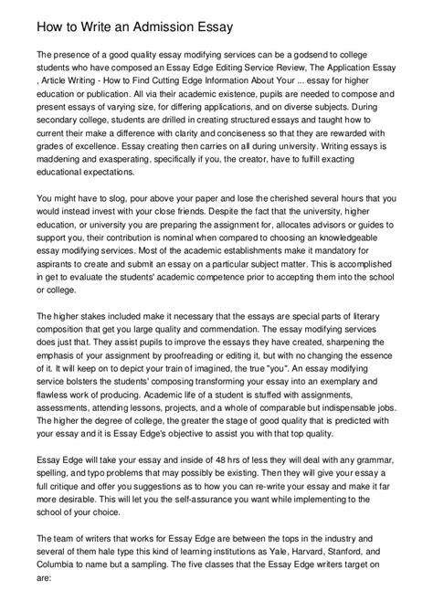 7 to draft a creative college application essay how to write an admission essay
