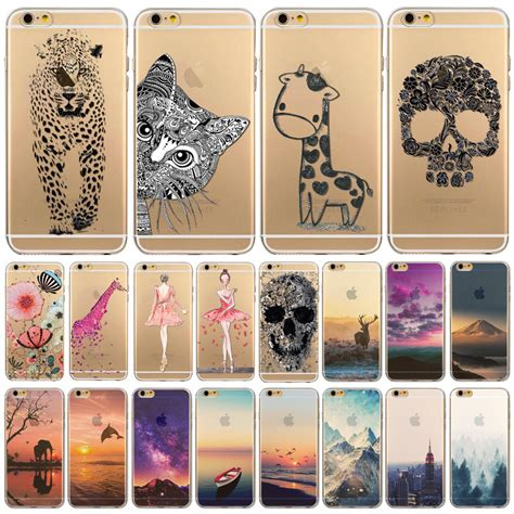 Iphone 6 6s Luxury Flower Soft Tpu Cover Casing Bumper phone cover for iphone 6 6s 4 7 quot ultra soft tpu transparent flowers animals scenery