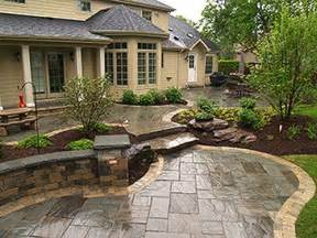 backyard designer i love the sted concrete and brick edging thanks leah i was looking for something around