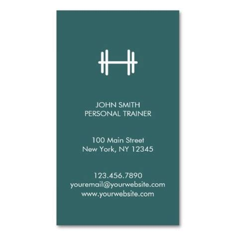 Gallery of 283 best images about fitness trainer business cards on ...