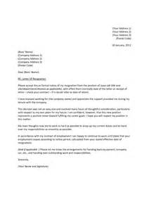 resignation letter writing a formal letter of