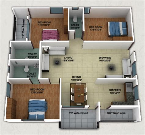 1800 Square Feet House Plans by 1400 Sq Ft 3 Bhk 3t Apartment For Sale In Shreya Homes