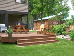 backyard decks images oldham s lakefront cottages house pictures maple