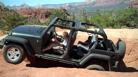 Broken Arrow Jeep 4 Door Jeep Sliding Sideways On The Broken Arrow
