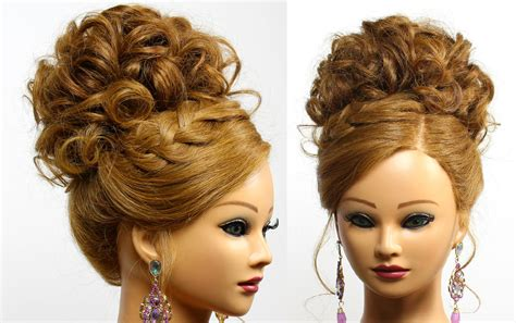 Updos Hairstyles For Of The by Bridal Prom Updo Hairstyle For Medium Hair Braids