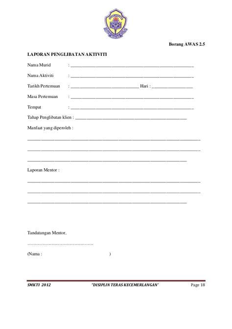 format laporan disiplin murid pelaksanaan modul peningkatan disiplin