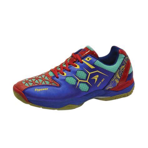 Sepatu Badminton Flypower jual flypower mendut sepatu badminton blue