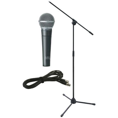 Mic Microphone Kabel Shure Sm 58 set shure sm 58 lce inkl stativ kabel