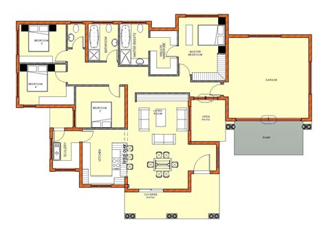 Home Plans Images by 4 Bedroom House Floor Plans In South Africa Home