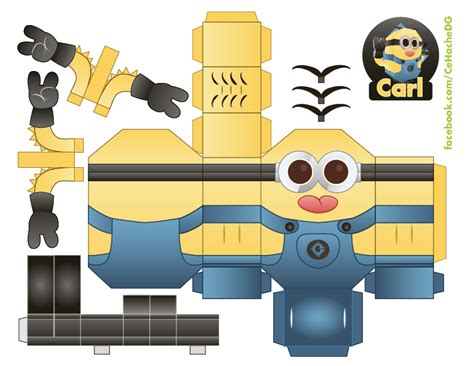 Minion Papercraft - carl the minion by moomuu on deviantart