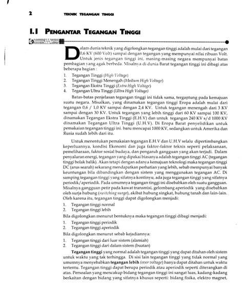 Teknik Tegangan Tinggi 1 dasar pembangkit dan pengukuran teknik tegangan tinggi