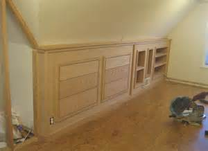 finished built in knee wall cabinetry flickr photo