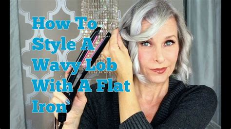 how to style wavy lob how to style a wavy lob with flat iron youtube