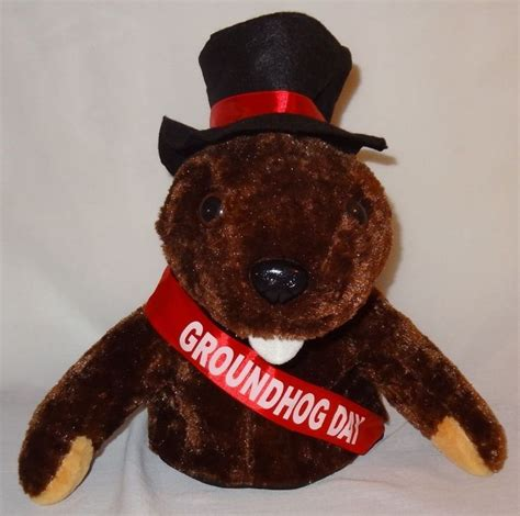 groundhog day hat groundhog day plush animal stuffed hat banner puppet