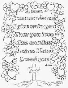 coloring pages kids adron love coloring john 13 34 free print