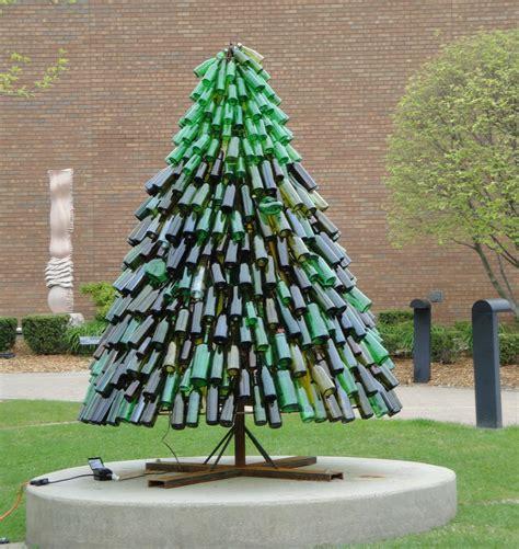 christmas tree made from wine bottles wine bottle tree misc wine bottle tree and tree