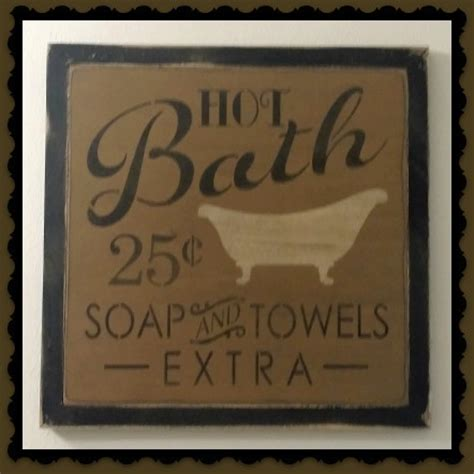 bathroom sign decor country primitive bathroom decor tissue box covers