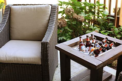 Patio Table Cooler Brilliant Diy Cooler Tables For The Patio With Built In