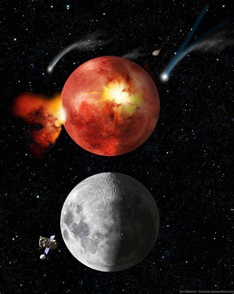 Solar Moon late heavy bombardment