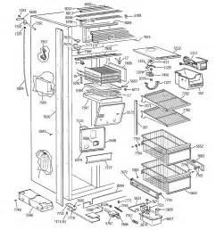 refrigerator parts ge refrigerator parts diagram monogram