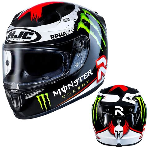 Motorradhelm Monster by Hjc R Pha10 Plus Lorenzo 2013 Monster Energy Moto Gp