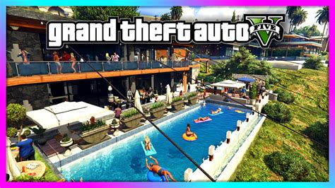 gta house music gta 5 house party at franklin s hundreds of people huge party gta v youtube