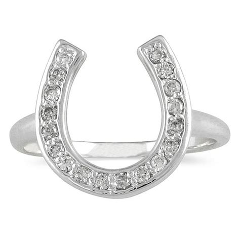 horseshoe ring in 14k white gold rgf34297 0