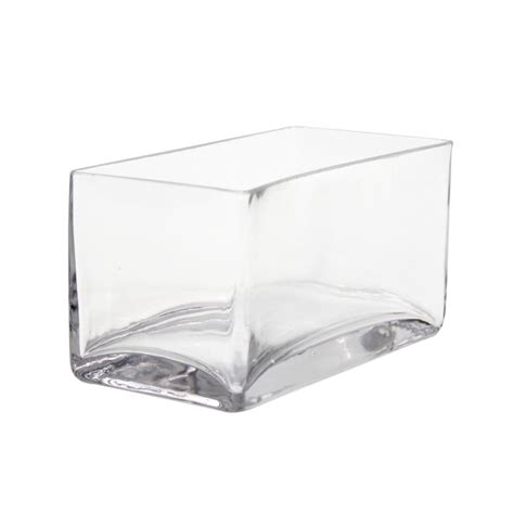 destination events rectangle 8 x 4 x 4 glass vase