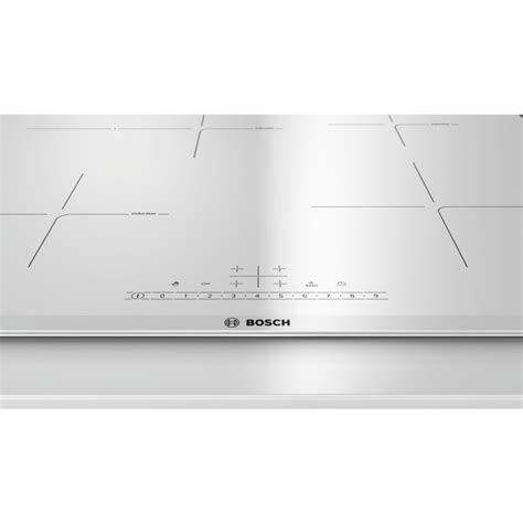 induction hob white bosch induction hob pif672fb1e touch 60 cm white fab appli