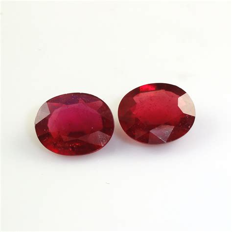 Madagascar Ruby Oval madagascar ruby oval 12x10mm matched pair approximately 9